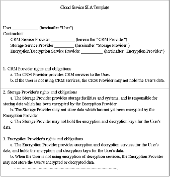 service provider agreement template - a crm based cryptography service for ensuring security in