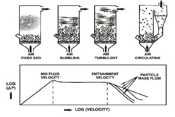 Bubbling fluidized bed boiler or circulating